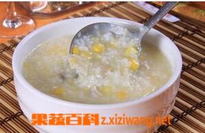 果蔬百科山药玉米粥